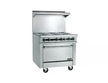 6 burner stove with oven natural gas