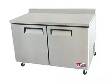 2 door work top refrigerator